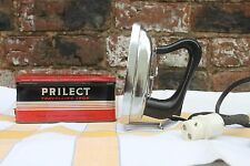 Retro vintage Prilect travel iron, bakelite handle 200/250 volts 150 watts