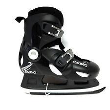 OXELO play 3 Ice skate noir réglable 32-34 enfants patin à glace-sale