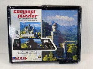 Compact Puzzler Portable Sorting Storage System 500 Pieces Neuschwanstein Castle