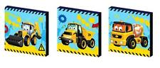 MY FIRST JCB diggers CANVAS WALL ART PLAQUES/PICTURES