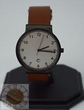 Skagen Men's Ancher Light Brown Leather Strap Watch SKW6297, New