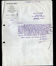 """BOURGES (18) PRODUITS METALLURGIQUES / ART MENAGER """"Sté François HUET"""" en 1925"""