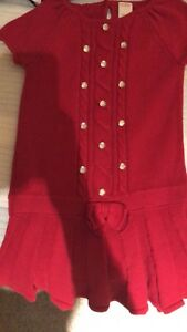 Gymboree Red Cable Knit Sweater Dress Size 5 Girls Holiday Christmas