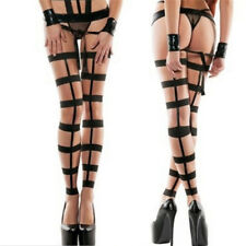 Womens Fashion PU Top Thigh-Highs Stockings & Garter Belt Suspender New Trendy