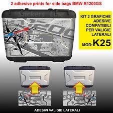 2 adesivi valigie BMW R1200GS mod. K25 bussola + planisfero borse fino al 2012