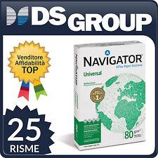 Carta Universal Navigator A4 80 g/mq 110 µm - 25 RISME per Fotocopie Stampanti