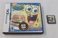 Nintendo DS Game Cartridge Spongebob Beach Party Cook Off with Case