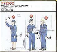 Czech Master 1/72 3 WAAF Personnel WWII # F72052