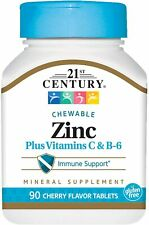 21st Century Zinc Chewable Tablets with Vitamins C & B6 -90 ct -Exp Date 03-2023