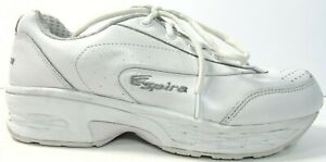 Spira Women's Classic Leather Walking Comfort Shoes Sneakers White US SIze 9