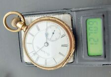 Solid Gold Runs 127 grams #02-3 Antique 18S Elgin Pocket Watch 14K