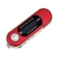 Fashion USB MP3 Music Player Digital  LCD Screen Support 32GB TF Card & FM Radio