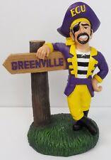 ECU Pirates Mascot with Greenville Sign