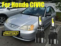 LED Civic 2001-2003 Headlight Kit H4/9003 HB2 6000K White CREE Bulbs HI/Low Beam