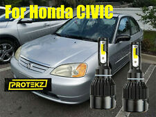 LED Civic 2001-2003 Headlight Kit H4/9003 HB2 6000K White CREE Bulbs HI/Low Beam