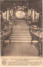 CPA BELGIQUE BELGIUM BRUXELLES expo publique belgo-japonais escalier monumental