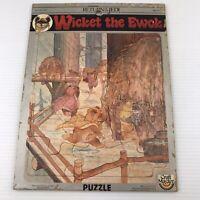 Vintage Star Wars Wicket the Ewok Return Of The Jedi Poster Puzzle Ewok Village