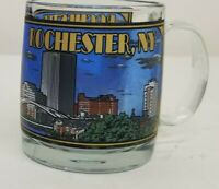 Rochester New York Coffee Cup Mug City Detailing On Glass Heavy