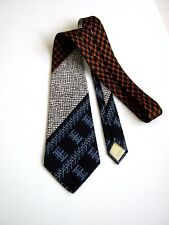 DELL' OGLIO NUOVA NEW HAND BLOCH PRINTED TWILL VINTAGE 70  MADE IN ENGLAND