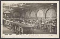 Postcard. Royal Navy. Men's Beer Hall, Royal Naval Barracks, Portsmouth. RPPC