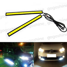 2x COB Xenon White 100 LED DRL Daytime Running Car Fog Light Backup Lamp Strip