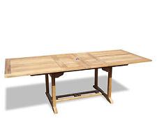"Genuine Grade A Teak 95 x 39"" Rectangular Double Extension Table Seats 10,SALE!"