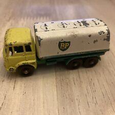 MBRW5 Matchbox Lesney 1965 25 C BP Petrol Tanker Yellow/White/Green