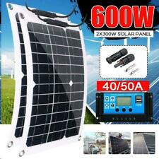 Solar Panel Kit 600w 300w Watt Grid 18v Battery Power Charger Charge Controller
