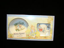 Vintage Peter Rabbit Wedgwood Cup Bowl Set  1991 NIB Made England in Box