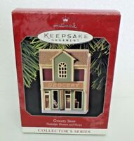 Hallmark Keepsake Ornament Nostalgic Houses Shops Grocery Store 15th 1998