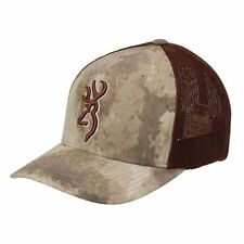 Browning Embroidered Speed Mesh Flex-Fit Cap, A-TACS Au - Large/X-Large
