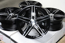 16x7 Black Wheels Rims 4x100 4x114.3 Fit Civic Prelude Galant Lancer Altima Cube
