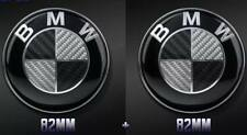 New set of BMW Logo Emblem Real Black White Carbon 82+82mm E60 E63 E87 E90 E70
