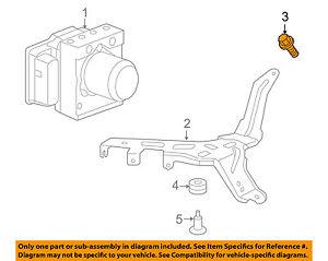 HONDA OEM ABS Anti-Lock Brakes-Mount Bracket Bolt 934040601405