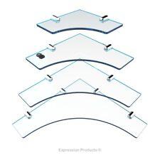 Acrílico cuarto de baño estante de la esquina, estantes de cocina, Pack de 4 150 mm, 200 mm, 250 mm y 300