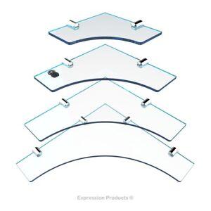 Acrylic Bathroom Corner Shelf, Kitchen Shelves, 4 Pack 150mm, 200mm, 250mm & 300