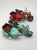 Motorbike Sidecar Vintage Tin Plate Giftware Cars Planes Retro Display Gifts