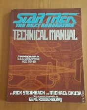 STAR TREK THE NEXT GENERATION TECHNICAL MANUAL BY STERNBACH AND OKUDA PAPERBACK
