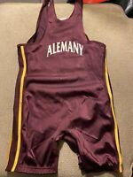 Men's Adidas Alemany Warriors Spandex Wrestling Singlet XL