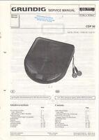 GRUNDIG - CDP 99 - Service Manual Schaltplan CD Player - B10473