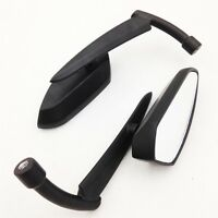 Black Spear Blade Mirrors Fit For Harley Davidson Sportster Dyna Softail