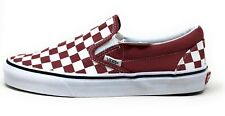 Vans Unisex Adult Classic Checkerboard Slip On Shoes Maroon Mens 5 / Womens 6.5