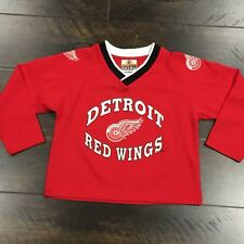 Vintage Detroit Red Wings NHL Red Winning Goal Hockey Jersey Size 7 In Youth