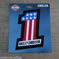 Harley Davidson Authentic Patch - American Number One - Medium Emblem Badge