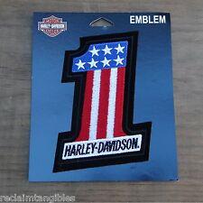 Harley Davidson Authentic Patch - American Number One - Medium Emblem Badge