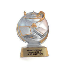 Lamp Of Knowledge Resin Trophy- Learning- Trivia- Desktop Series- Free Lettering