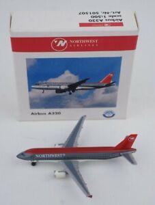 Herpa Wings 1:500 Scale Northwest Airbus A320 Die Cast #501507 AIRPLANE
