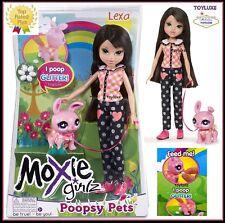 Moxie Girlz Poopsy Pets Doll LEXA & Fantasy Pet BUNNY Eats & Poops GLITTER Rare