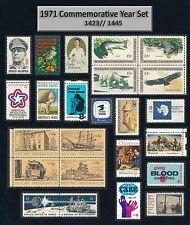 US 1971 Commemorative Year Set = Set of 24 MINT VF NH  1423 // 1445
