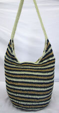 STYLE & CO. STRIPPED Navy Crotchet Hobo Shoulder Bag Msrp $58.50